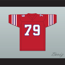 Fred Palowski 79 Adams College Atoms Red Football Jersey Revenge of the Nerds