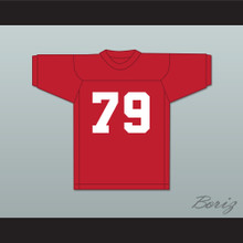 Fred 'Ogre' Palowski 79 Adams College Atoms Red Practice Football Jersey Revenge of the Nerds 1