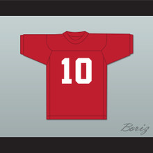 Stan Gable 10 Adams College Atoms Red Practice Football Jersey Revenge of the Nerds 2