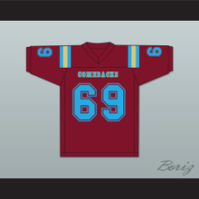 Buddy Boy 69 Heartland State University Comebacks Maroon Football Jersey