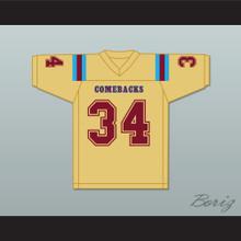 Aseel Tare 34 Heartland State University Comebacks Gold Football Jersey