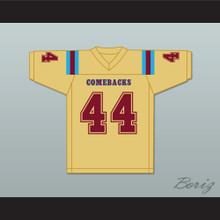 Jorge Juanson 44 Heartland State University Comebacks Gold Football Jersey