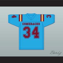 Aseel Tare 34 Heartland State University Comebacks Light Blue Football Jersey