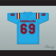 Buddy Boy 69 Heartland State University Comebacks Light Blue Football Jersey