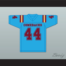 Jorge Juanson 44 Heartland State University Comebacks Light Blue Football Jersey