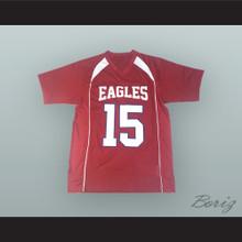 Josh Allen 15 Firebaugh High School Eagles Red Football Jersey