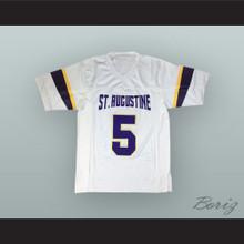 Leonard Fournette 5 St. Augustine High School Purple Knights White Football Jersey