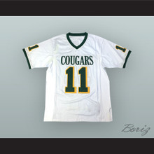 Russell Wilson 11 Collegiate School Cougars White Football Jersey