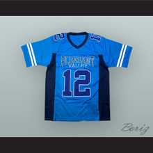Aaron Rodgers 12 Pleasant Valley High School Vikings Blue Football Jersey