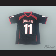 Baker Mayfield 11 Lake Travis High School Cavaliers Black Football Jersey