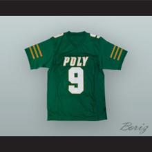 JuJu Smith-Schuster 9 Long Beach Polytechnic High School Jackrabbits Green Football Jersey