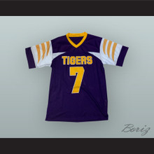 Lamar Jackson 7 Boynton Beach Community High School Tigers Purple Football Jersey