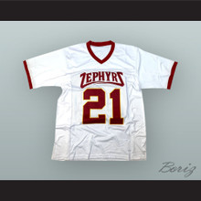 Saquon Barkley 21 Whitehall High School Zephyrs White Football Jersey