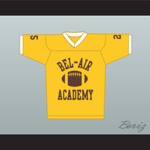 Fresh Prince Carlton Banks Bel-Air Academy Football Jersey Yellow