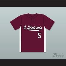 Patrick Mahomes 5 Whitehouse High School Wildcats Maroon Baseball Jersey 1