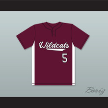 Patrick Mahomes 5 Whitehouse High School Wildcats Maroon Baseball Jersey 2