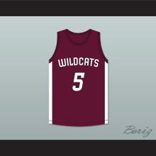 Patrick Mahomes 5 Whitehouse High School Wildcats Maroon Basketball Jersey 1