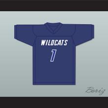 Lamar Jackson 1 Franklin High School Wildcats Blue Football Jersey 2