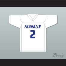 Lamar Jackson 2 Franklin High School Wildcats White Football Jersey 2