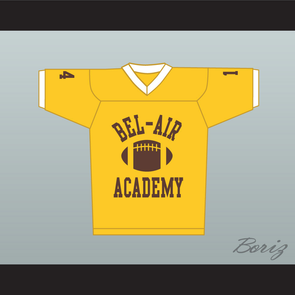 73cc4dc4a72 Fresh Prince Will Smith Bel-Air Academy Football Jersey Yellow. Price    55.99. Image 1