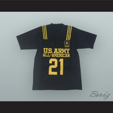 Nick Chubb 21 U.S. Army High School All-American Black Football Jersey
