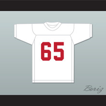 Puddin Patterson Sr 65 Miami White Football Jersey Semi-Tough