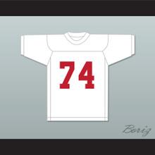 T.J. Lambert 74 Miami White Football Jersey Semi-Tough