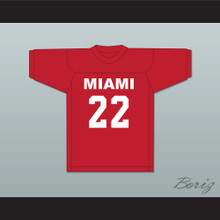 Billy Clyde Puckett 22 Miami Red Football Jersey Semi-Tough