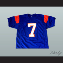 Alex Moran 7 Blue Mountain State Goats Football Jersey Blue