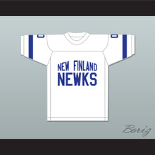 George Plimpton 0 New Finland Newks White Football Jersey Paper Lion