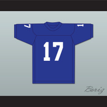 George Plimpton 17 Detroit Practice Blue Football Jersey Paper Lion 1