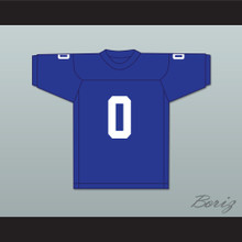 George Plimpton 0 Detroit Blue Football Jersey Paper Lion 2