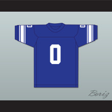 George Plimpton 0 Detroit Blue Football Jersey Paper Lion 4