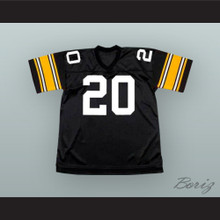 Rocky Bleier 20 Pittsburgh Black Football Jersey Fighting Back- The Rocky Bleier Story