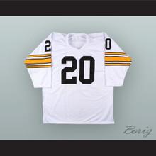 Rocky Bleier 20 Pittsburgh White Football Jersey Fighting Back- The Rocky Bleier Story