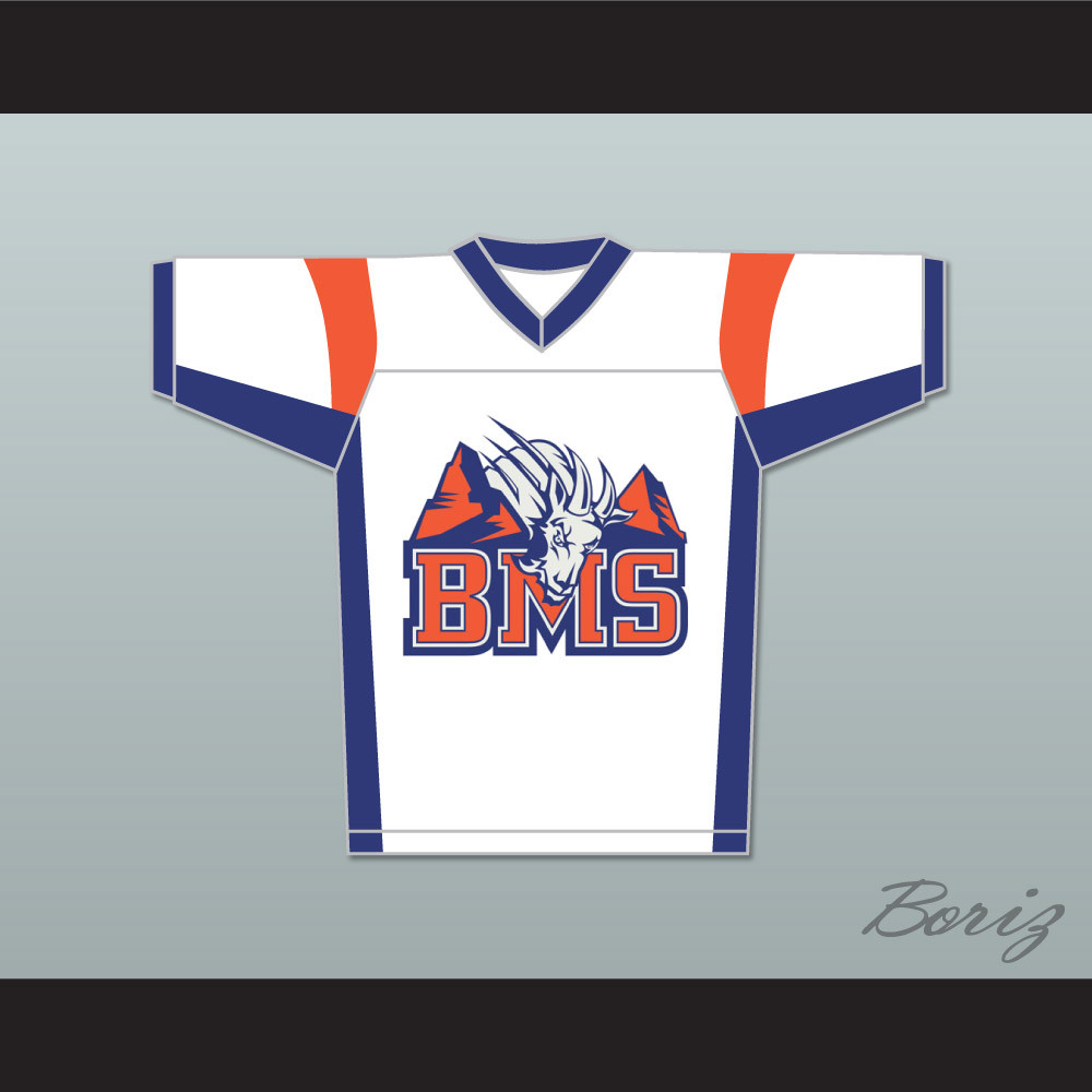 b91c2feaefe Thad Castle 54 Blue Mountain State Goats Football Jersey Stitch Sewn White.  Price   55.99. Image 1