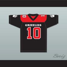 Tami Maida 10 Minnville High School Grizzlies Football Jersey Quarterback Princess 3