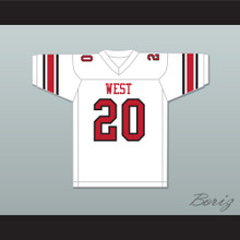 Greg Cima 20 West High School White Football Jersey Windrunner 2