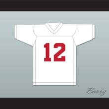 Greg Cima 12 Mustangs High School White Practice Football Jersey Windrunner 2