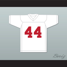 Dave Promisco 44 Mustangs High School White Practice Football Jersey Windrunner 1