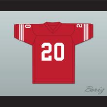 Greg Cima 20 Mustangs High School Red Football Jersey Windrunner 2