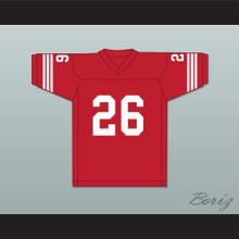 Dave Promisco 26 Mustangs High School Red Football Jersey Windrunner 1