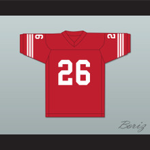 Dave Promisco 26 Mustangs High School Red Football Jersey Windrunner 2