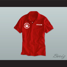 Coach Grizzly Country Football Red Polo Shirt Quarterback Princess