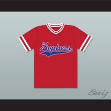 Chuck 24 Gophers Liitle League Red Baseball Jersey Little Big League