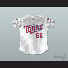 George O'Farrell 55 Minnesota Home Pinstriped Baseball Jersey Little Big League 1
