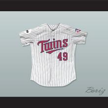 Jim Bowers 49 Minnesota Home Pinstriped Baseball Jersey Little Big League 1