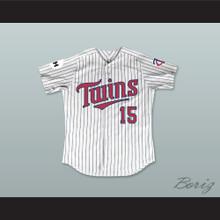 Larry Hilbert 15 Minnesota Home Pinstriped Baseball Jersey Little Big League 1