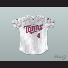 Lou Collins 4 Minnesota Home Pinstriped Baseball Jersey Little Big League 1