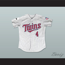 Lou Collins 4 Minnesota Home Pinstriped Baseball Jersey Little Big League 2